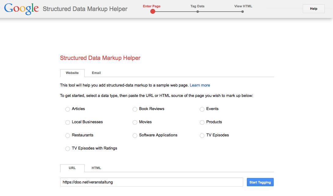 Google Markup Helper