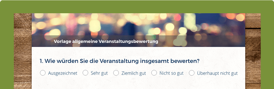 Umfrage Event SurveyMonkey