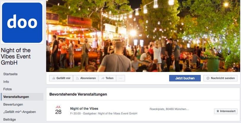 Event Management Website Facebook