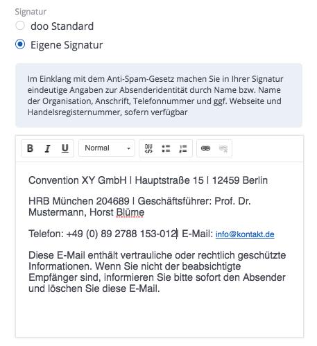E-Mail Kampagnen gestalten Signatur