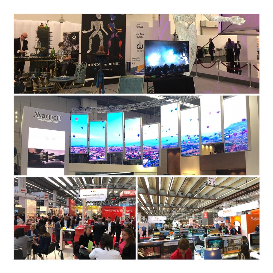 Abbildung 4: Impressionen der IMEX 2018: So hat das Team von doo die Veranstaltung erlebt