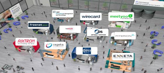 Beispiel virtuelle Messe/ Ausstellung