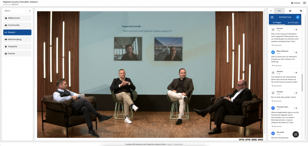Digitale Events interaktiv erleben